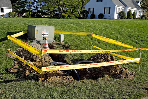 Underground electrical line repair